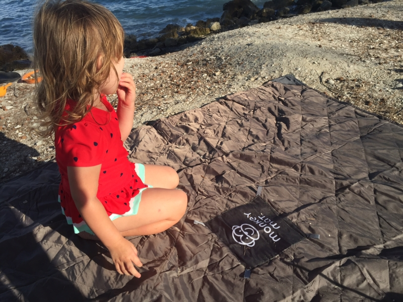 Monkey Mat is a must have item for the beach or any family travel | family travel product | beach blanket | #monkeymat | #tryazon | acupful.com | Mandy Carter | traveling with kids