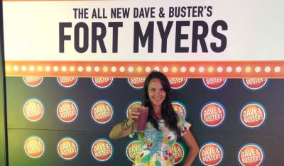 Mandy Carter attends Fort Myers Dave & Busters Media event getting a sneak peek before opening day on April 8, 2019 | Mandy Carter cupful.com Florida lifestyle and travel blog | Fort Myers |